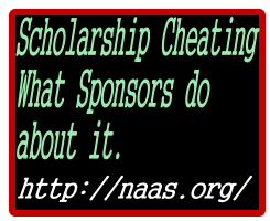 Scholarship Cheating