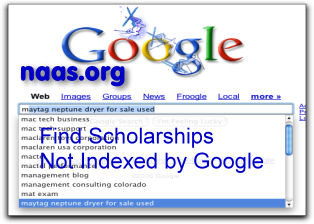 Delaware Scholarships not indexed by Google