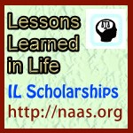 Lessons Learned in Life  Scholarships