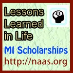 Lessons Learned in Life Scholarships for Michigan students