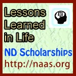 Lessons Learned in Life Scholarships for North Dakota students