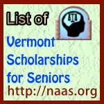 Vermont High-School Senior Scholarships